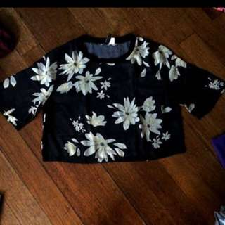 H & M Sheer Floral Top