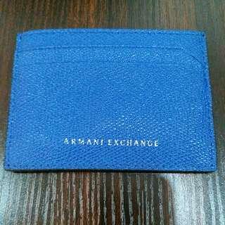 Armani Exchange Leather Holder Blue