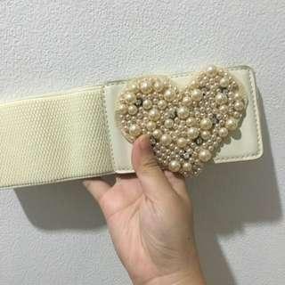 White Heart Belt