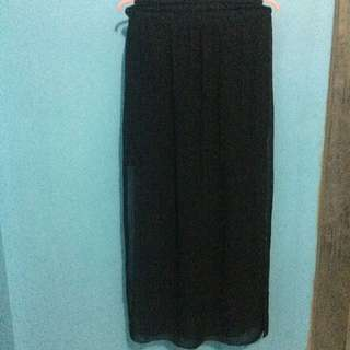 Maxi Skirt With Slit On Two Side