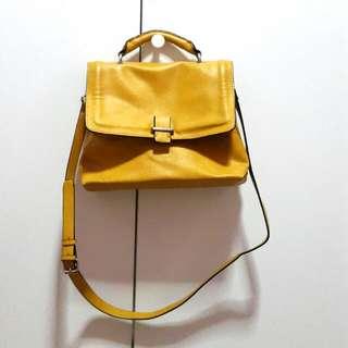 Zara Yellow City Bag