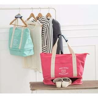 旅行袋 手提袋 肩背包 大方包 短途出差旅遊包 媽媽包 行李包 可套行李拉桿箱#b117