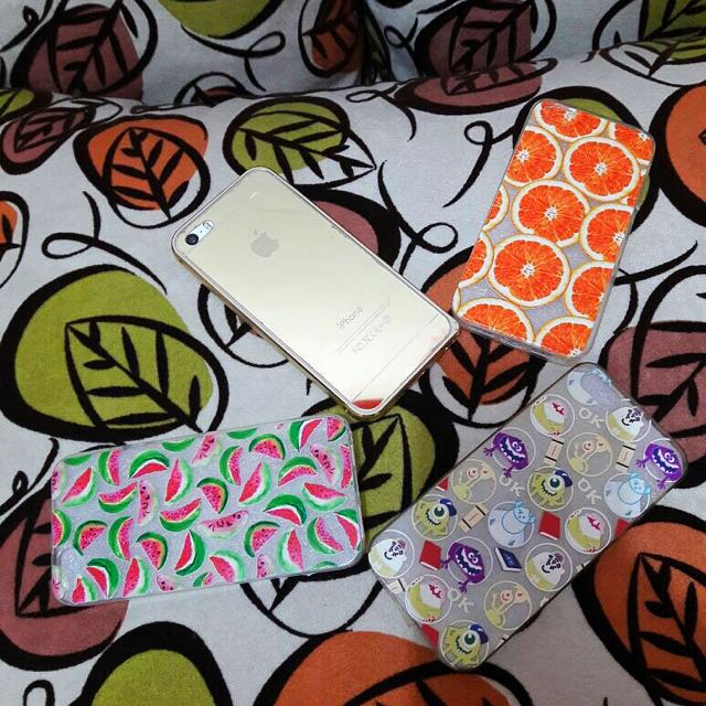 3 items Fruit Transparent Jelly Case for Iphone 5/5s