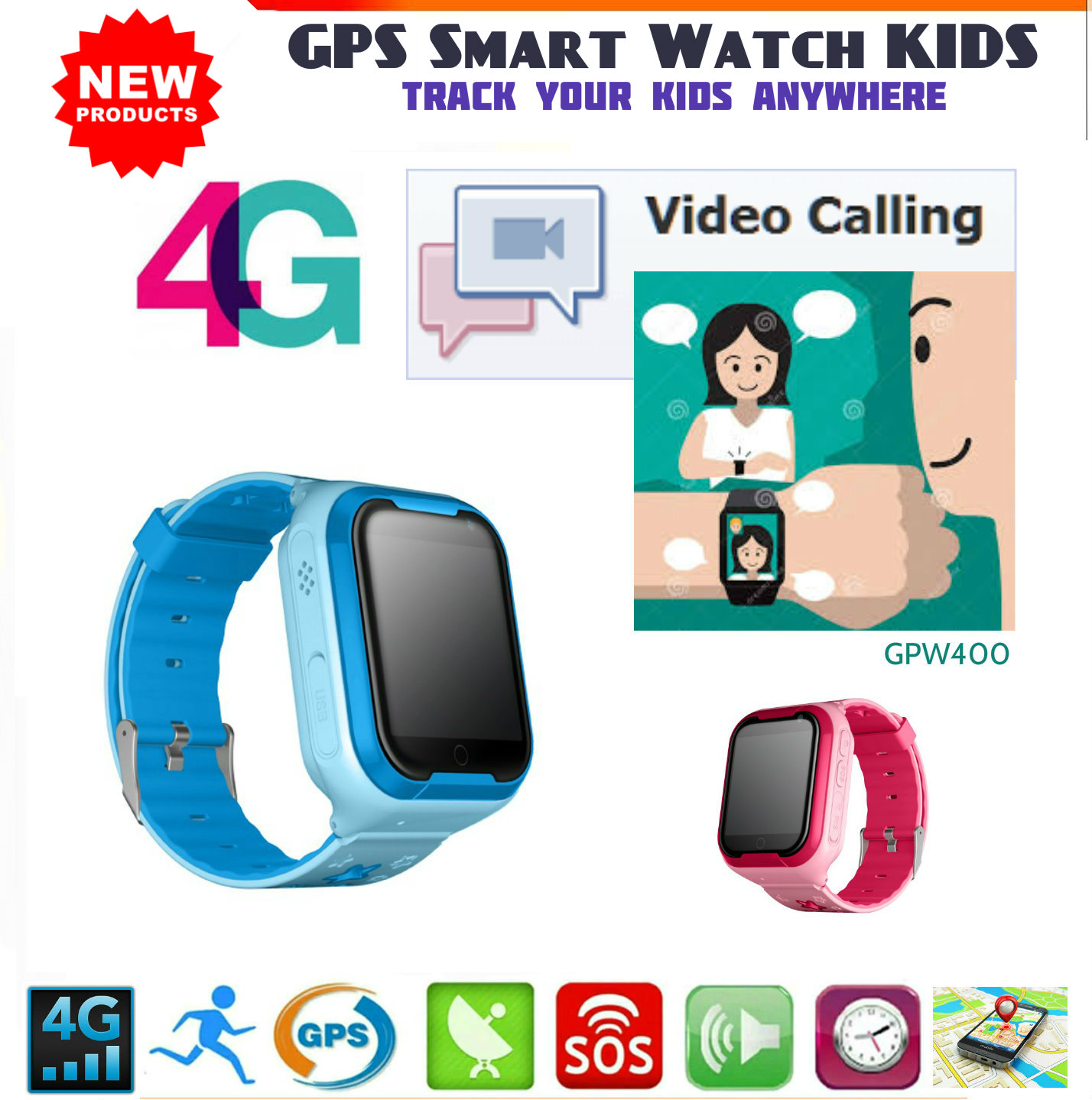 b8a16366ebdd 4G Video Call GPS Phone Watch