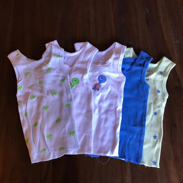 5 Newborn Singlets