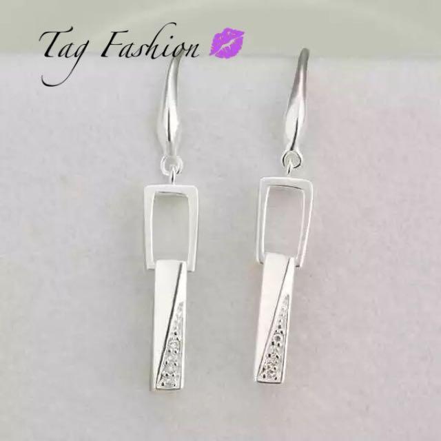 925 Silver Earring Sterling Silver Fashion Jewelry Rhinestone Women