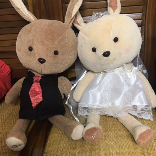 伊莎貝爾兔子娃娃玩偶一對
