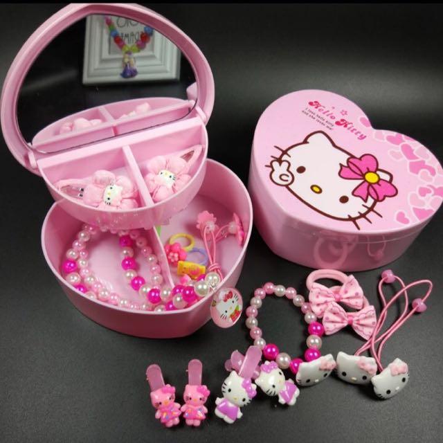 小女生兒童百寶髮飾盒 首飾盒 玩具套組 生日禮物 聖誕禮物