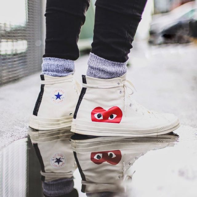 6a0c5aefade4 🔥 AUTHENTIC BELOW RETAIL CDG CONVERSE HIGHS 🔥