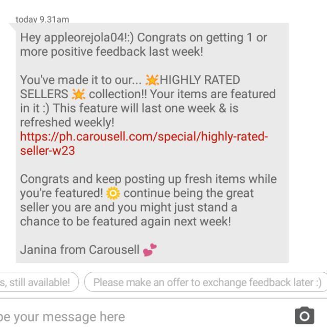 😘😍 Thankyou Carousell 👍👌☝