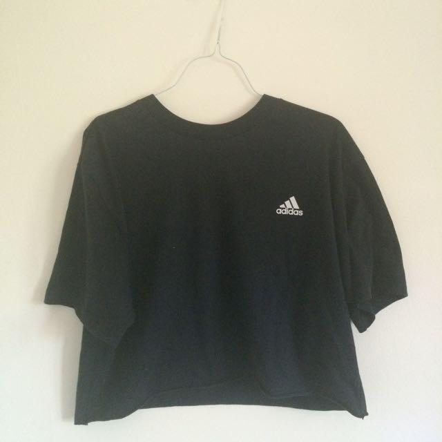 Adidas navy crop top