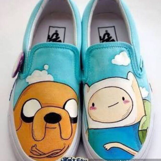 Adventure Time Hand Painted Shoes