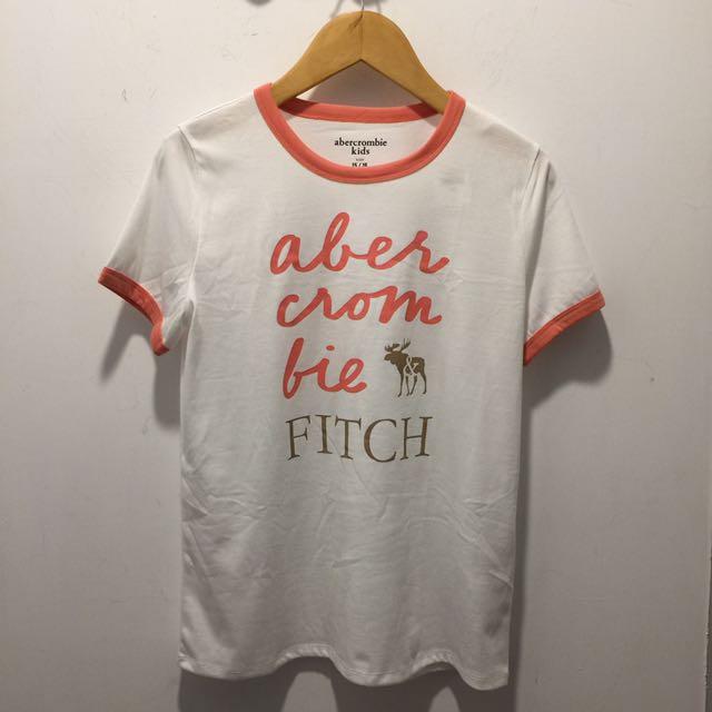 af kids girl 燙金鹿白色T恤
