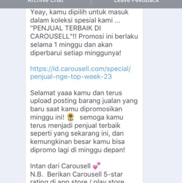 Alhamdulillah, Thanks Carousell!! 😊