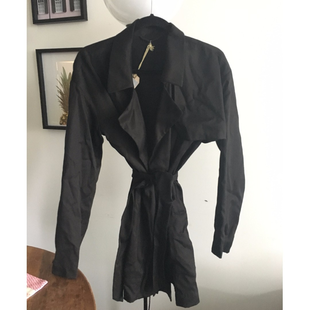 All Saints black trench coat, never worn!