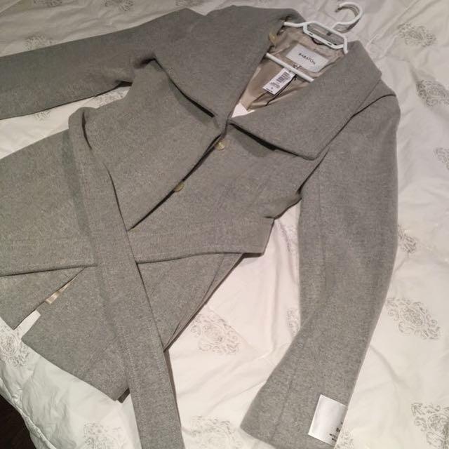 Aritzia Babaton Spencer Wool Coat Peacoat