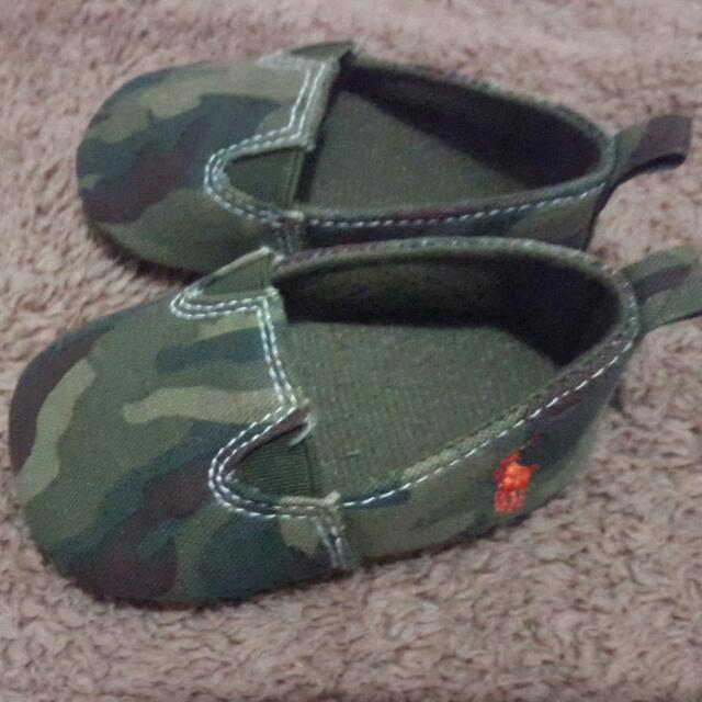 Army Motif Baby Shoes