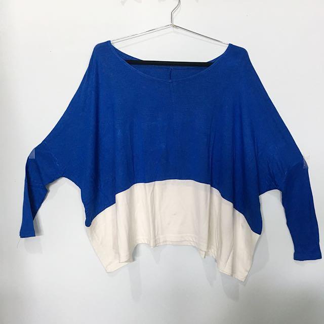 Atasan Kaos Biru Dongker