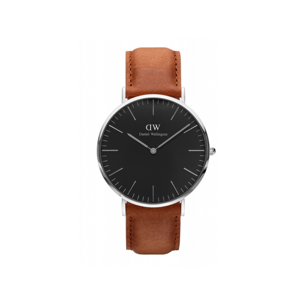 Authentic/Legit/Original Daniel Wellington Classic Black Durham 40mm Silver Watch