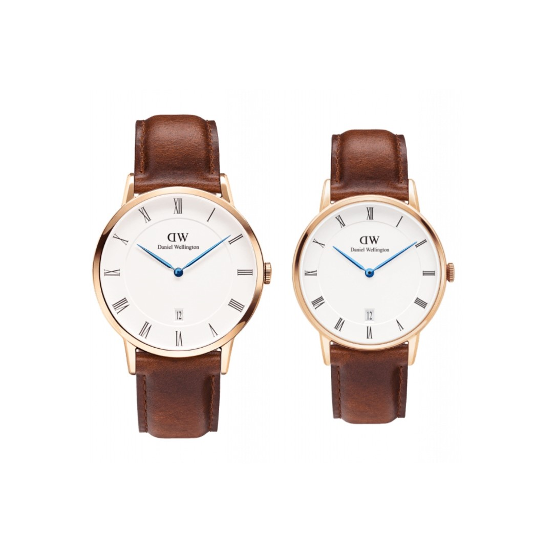 Authentic/Legit/Original Daniel Wellington Dapper St. Mawes 38mm and 34mm Rosegold Couple Watch