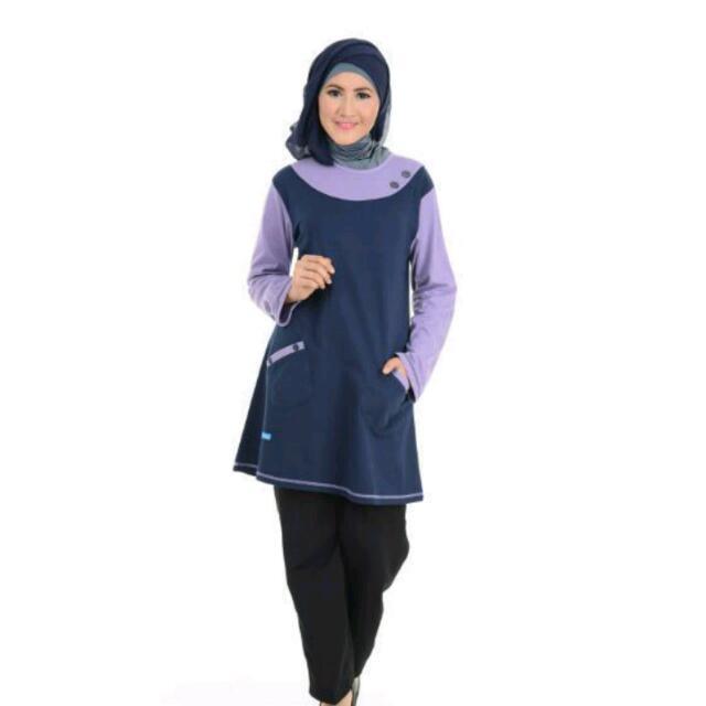 Baju Muslim Al Nita Biru Dongker