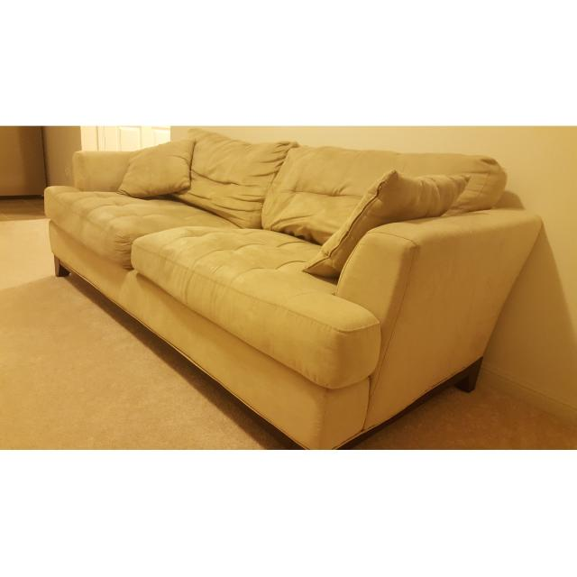 Beige Suede Couch