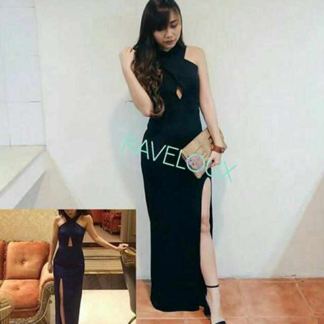 black long dress for party