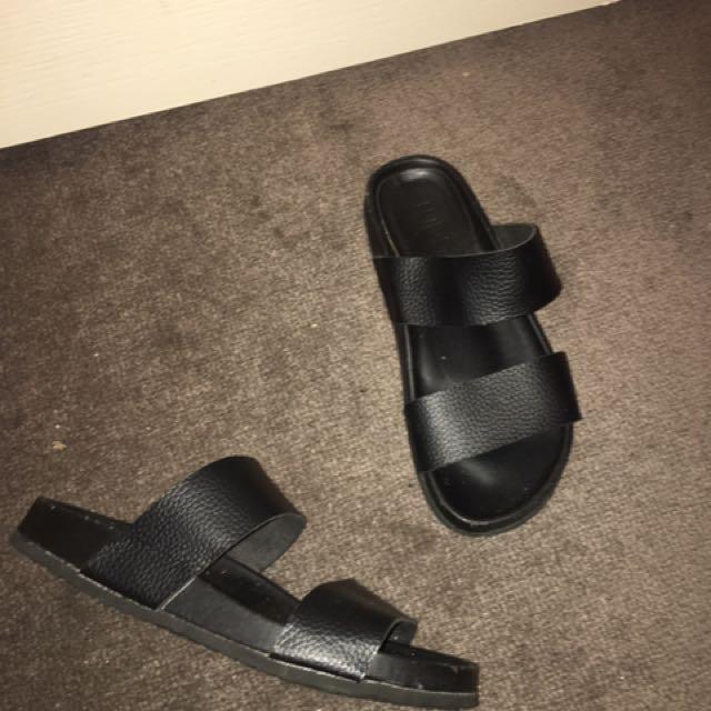 Black Sandals/ Slides