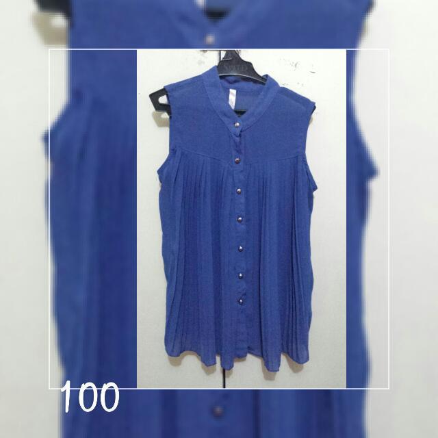 Blue Sheer Top