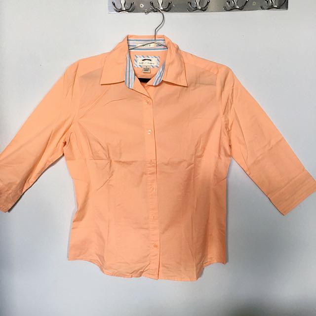 Blus Kantor Wanita Orange