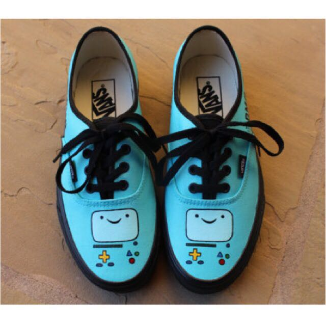 Bmo Adventure Time Hand Painted Shoes