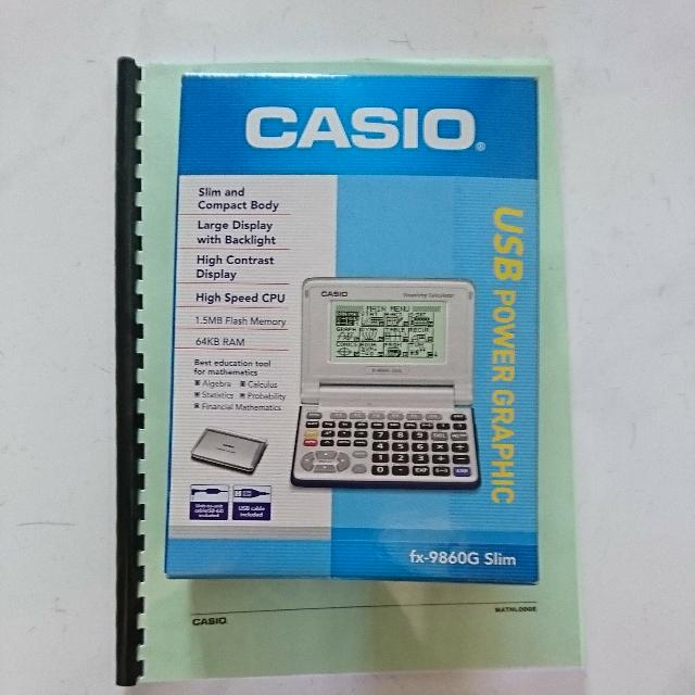 Casio fx-9860g au plus calculator download instruction manual pdf.