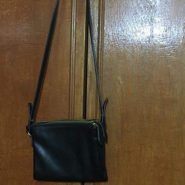 Celine Inspired Sling Black Bag
