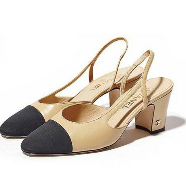 Chanel Sling Back Shoes