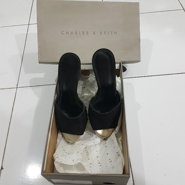 Charles N Keith Black High Heels