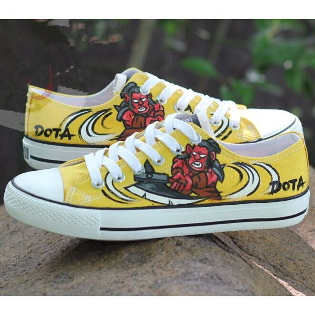 Dota2 Hand Painted Shoes