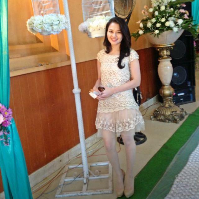 Dress brokat korea