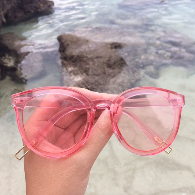 FREE ONGKIR look a like gucci sunglasses pink