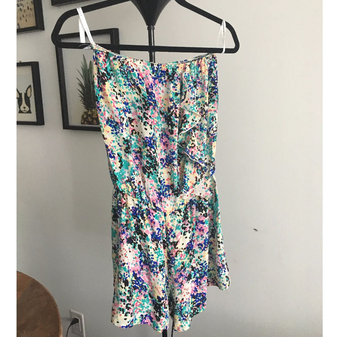 Fun summer romper, 100%silk,size M
