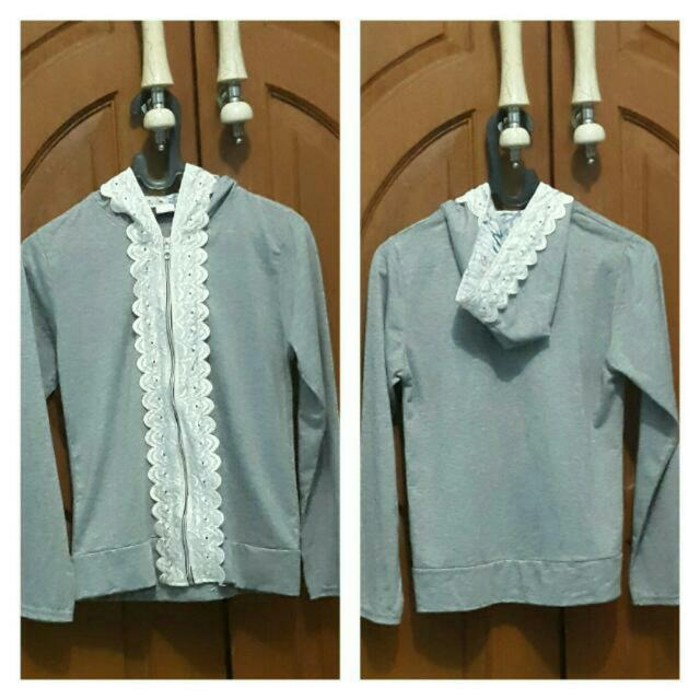 gray sweater / sweater abu""
