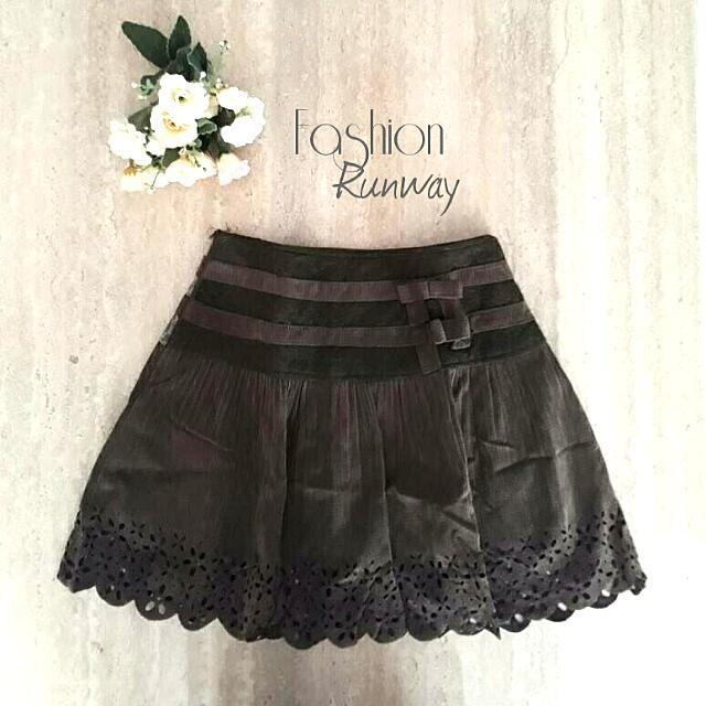 DISKON Green Army Flanel Skirt