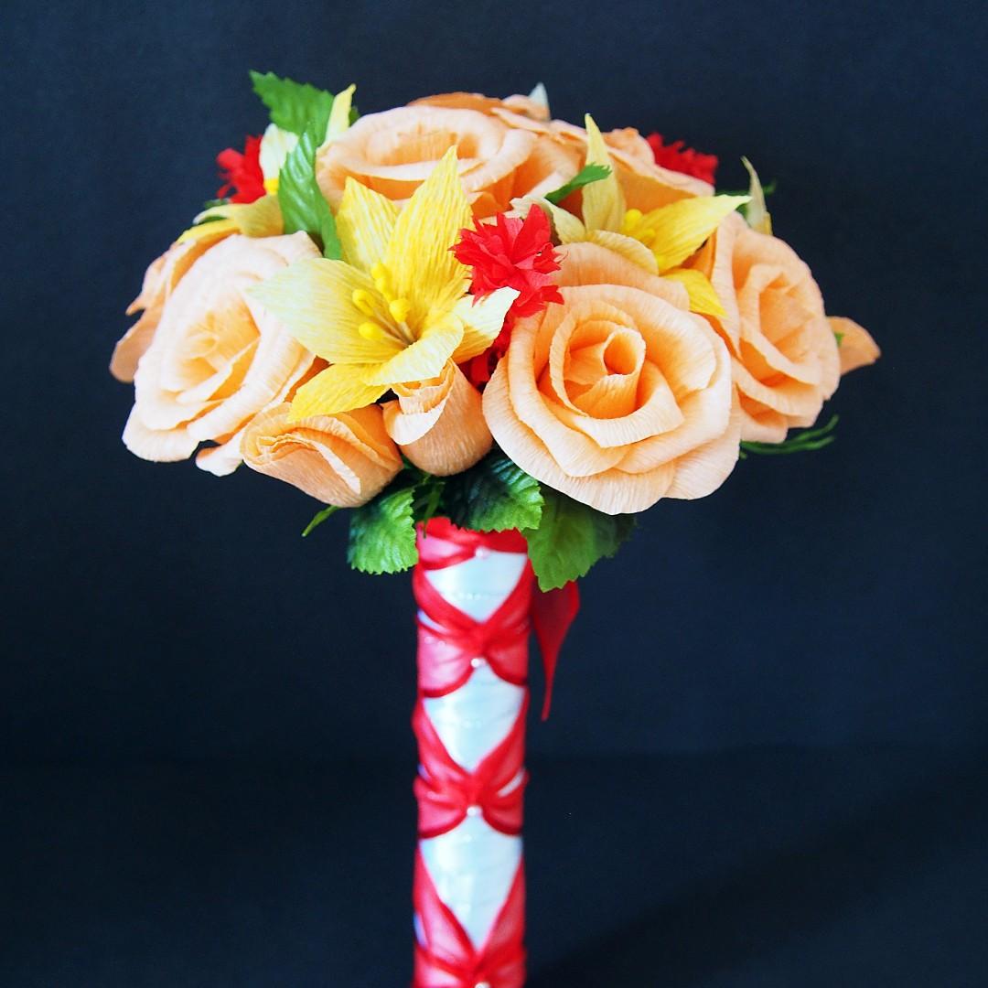 Handmade Crepe Paper Flower Bouquet