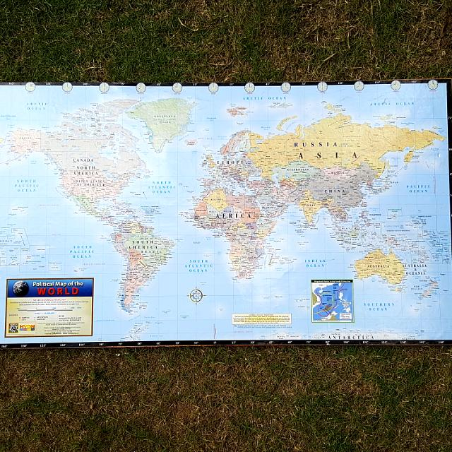Handmade world map cork board pin board for travellers adventurers handmade world map cork board pin board for travellers adventurers design craft handmade goods accessories on carousell gumiabroncs Gallery