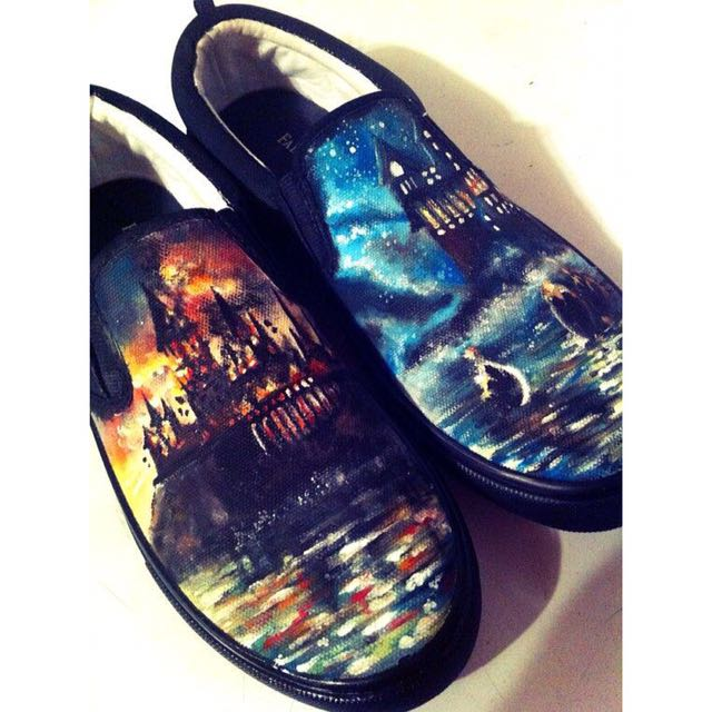 Harry Potter Hand Painted Shoes