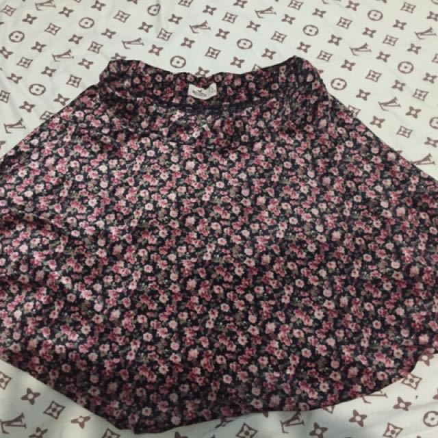 Hollister Skater Floral Skirt