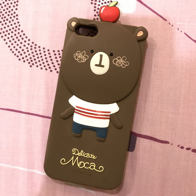 蘋果小熊iPhone 5/5s手機殼(軟殼)#六月免購物直接送