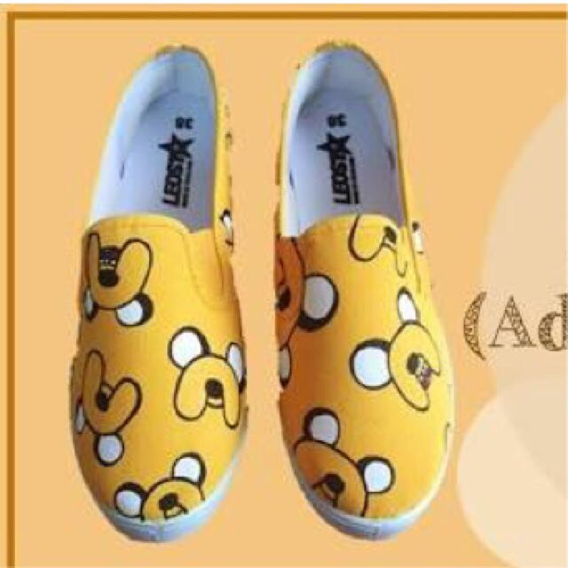 Jake Adventure Time Hand Painted Shoes