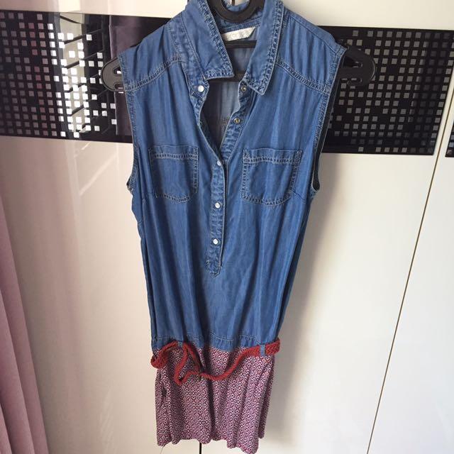 Jeans - Red Mini Dress