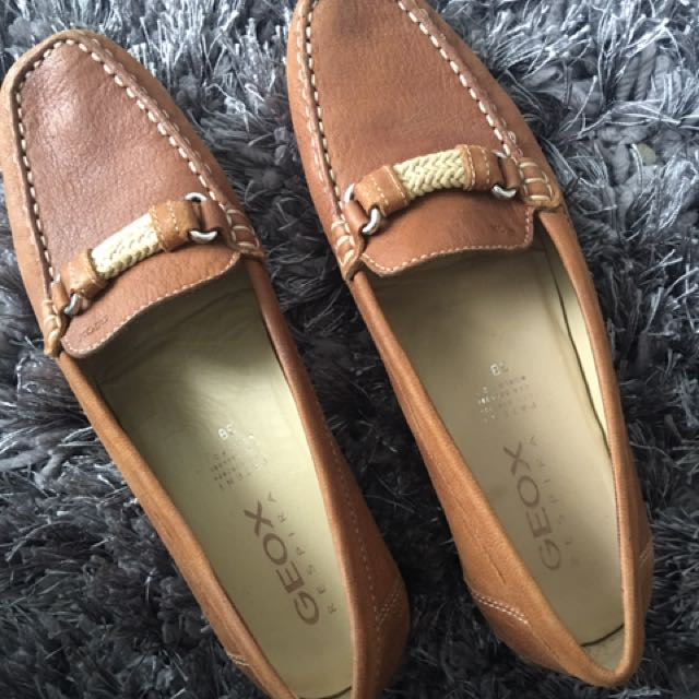 Ladies Geox Moccasin Leather Size 8