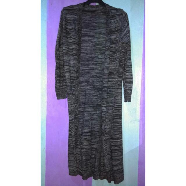 Long Vest Cardigan Grey